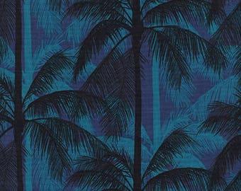 Cotton + Steel Poolside - palms - blue - 50cm - PRE-ORDER