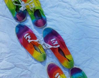 Tie dye Adults sneakers/plimsolls/runners/joggers