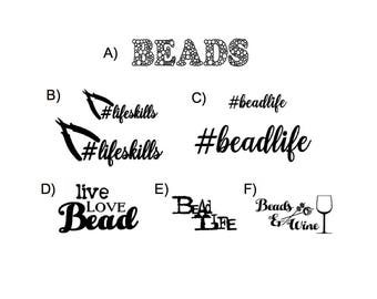 Even More BEAD LIFE DECALS (your choice)