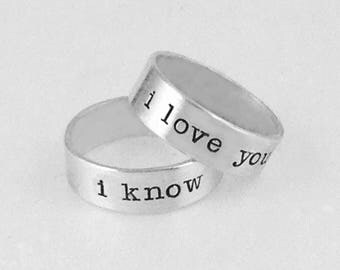 His Her Custom Message Rings for gloverlexi