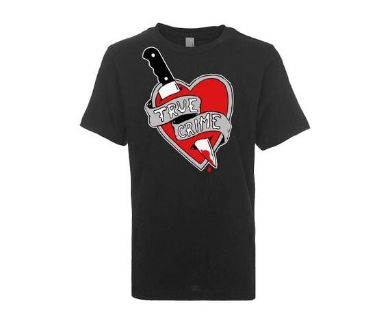 TRUE CRIME - PRESALE - Black Screen Printed T Shirt