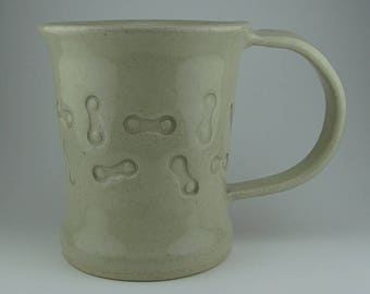 Handmade Pottery Ceramic Bike Link Mug By Powers Art Studio