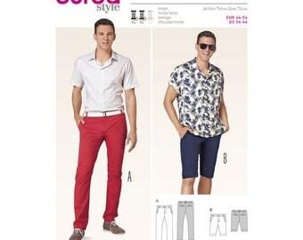 Burda Style Sewing PATTERN 6815 - Mens Sportswear Pants + Shorts