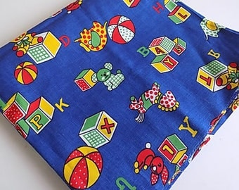 Vintage Cotton Kids Childrens Nursery Print Fabric