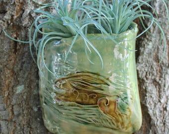 Leaping Hare Ceramic Wall Pocket