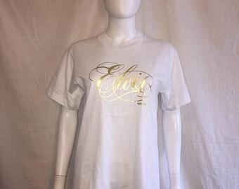 Closing Shop 40%off SALE Elvis Presley Souvenir Tourist t shirt size M Medium     1987 80s