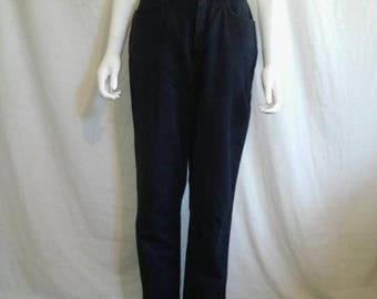 Closing Shop 40%off SALE 90's Vintage CK Calvin Klein zip fly jeans, Navy Dark Blue Classic minimalist jeans