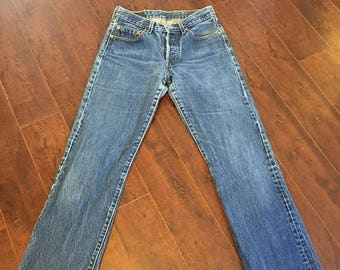 Closing Shop 40%off SALE Levis 501 80s 90s Levis jeans 501 button fly  W 28 waist