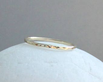 14K Gold Ring, Gold Hammered Ring, Solid Gold Ring, 14K Gold Band, Solid Gold Handmade Ring, Wedding Ring, Thumb Ring, Knuckle Ring