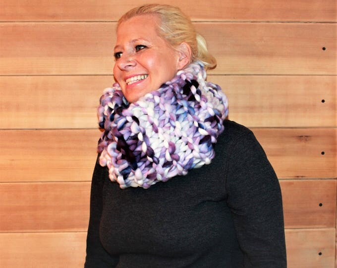 Huge chunky knit cowl. Super soft and warm. Merino Wool. One of a Kind.