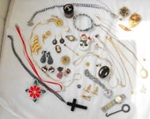 Vintage & Antique Jewelry, Costume, Fine, 39 pcs., destash, wear/upcycle/resell, 1890-1980, #2017-1