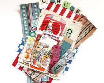 Come to the Circus! Vintage Circus Ephemera Pack