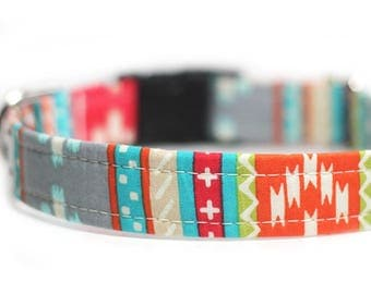 Tribal Dog Collar - Aztec Collar, Engraving optional, Personalized Collar - Tabasco Tribal