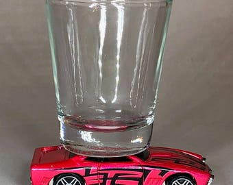 The Original Hot Shot shot glass, GT-03, Hot Wheel car
