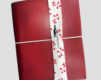 Cherries Theme Pretty Pen Pocket Planner Band Pen Holder