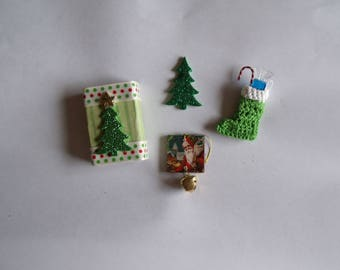 Christmas Tree Matchbox with 5 Goodies Inside/Decoration/Stocking Stuffer/Gift