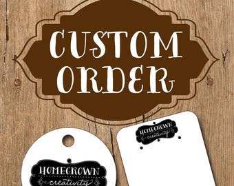 Custom Order Jewelry Display Tags for dorothywidmann