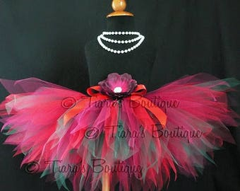 SUMMER SALE 20% OFF Christmas Tutu - Little Elf Tutu - Custom Sewn Tutu - 11'' pixie tutu - Made-To-Order - sizes newborn to 5T