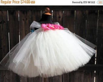 """SUMMER SALE 20% OFF Custom Sewn Tutu Dress - Sugar Cookies - up to 20"""" long - sizes newborn up to 24 months - Perfect for photo shoots, birt"""