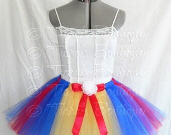 SUMMER SALE 20% OFF Snow White - Adult Teen Pre-teen Tutu - Less Full Tutu - Custom 15'' Sewn Tutu