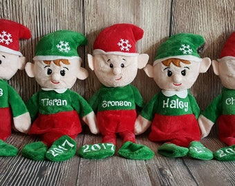 Personalized Elf Toy, Elf Plush with Name, Custom Personalized Stuffed Animal Toy, Christmas Gift, Stocking Stuffer, Christmas 2017 Elves