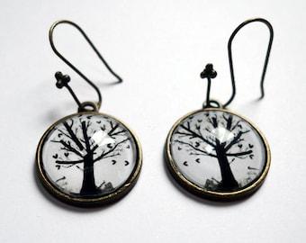 The tree with hearts BO107 earrings