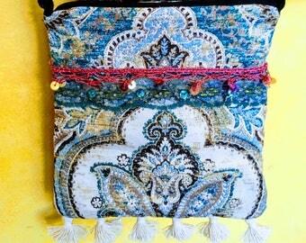Mini boho bag festival crossbody purse