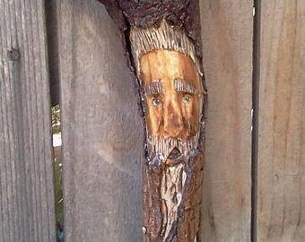 Unique one of a kind carved wood spirit/Tree Man  (Nr. 2)