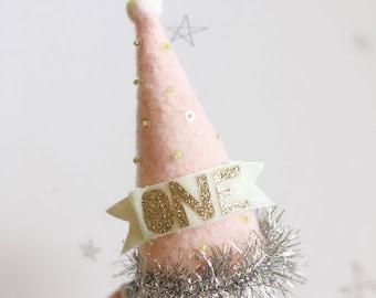 Pale Pink Party Hat clip