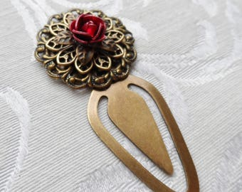 Bookmark- A Single Red Rose
