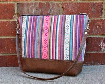 Southwestern Ethnic Bohemian Tribal Style Fabric Handbag Purse