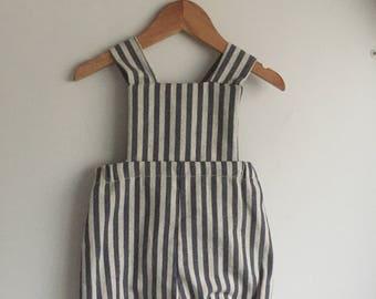 Stripe romper overalls