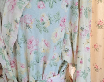Vintage Pastel Rose Faded Bathrobe