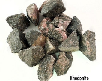 Rhodonite  Rough/Raw Crystal Gemstone-Per Piece 30-50mm-Gemstones and Crystals, Raw Crystal Specimens, magickal crystals, healing crystals