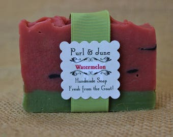 Watermelon Goat Milk Soap