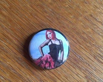 Pink Tutu Gothcupcake 1 inch pin