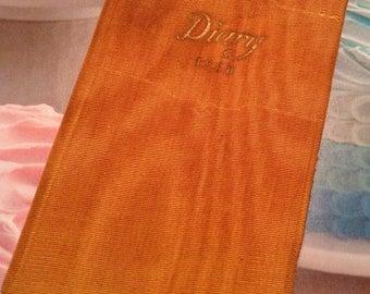 1938 Pocket Diary Unused Small Orange  Pocket Diary ....Free Shipping
