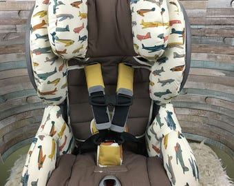 Organic replacement car seat cover for Britax advocate or Boulevard clicktight