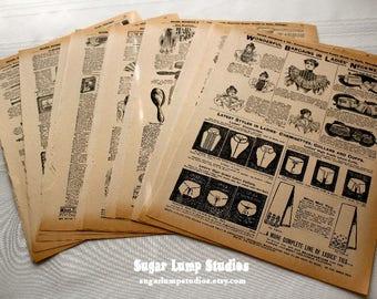 1897 Sears Robuck Catalog Ephemera Pack 20 sheets 8 3/4 x 11 inches