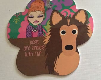 Christmas Ornament  - Dog ornament -  Dogs are angels with fur