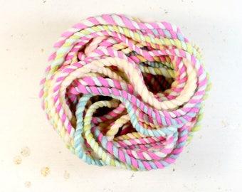 candy crush 1   ... handspun yarn set, weaving creative yarn bundle, hand spun, hand dyed yarn, handspun art yarn