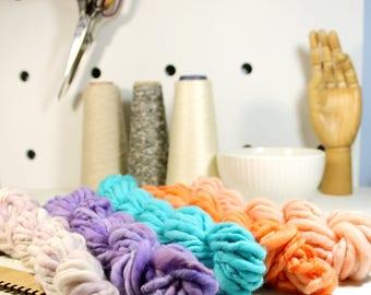 candy land   ... handspun yarn set, weaving creative yarn bundle, hand spun, hand dyed yarn, handspun art yarn