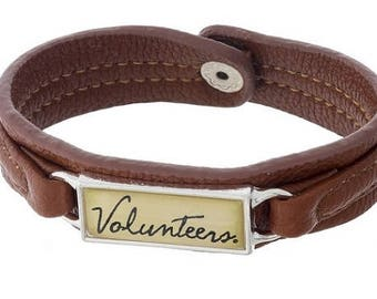 University of Tennessee Leather Snap Bracelet