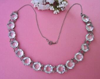 Vintage Deco Crystal Necklace