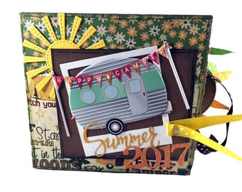Camping Scrapbook - Mini Camping and Hiking Scrapbook - Camping Paper Bag Album
