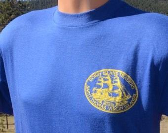 vintage 80s tee shirt DOWN ISLAND traders st thomas virgin islands soft t-shirt Large Medium usvi