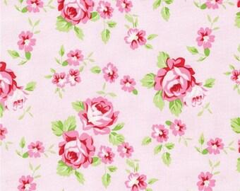 Tanya Whelan Fabric, Rambling Rose, Happy Rose, Pink, Floral Fabric - FAT QUARTER