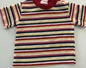 Vintage 70s 80s Striped Retro Tshirt Size 6 - 18 months