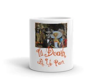 Halloween Wedding Skeleton Couple Romantic Mug