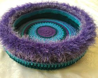 Dumpling's Hand Crocheted Cat Bed , no. 1710